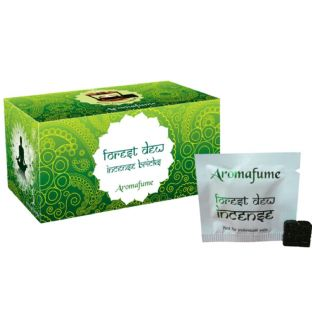 Aromafume Box of 18 Individually Wrapped Incense Bricks... FOREST DEW